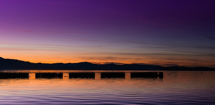 Lake Tahoe Sunset Purple